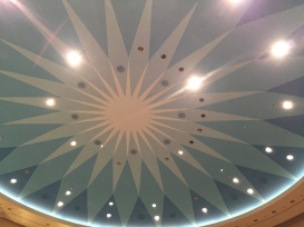 The ceiling of the rotating conference rooms.