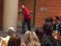Scalzi makes an entrance