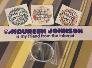 Have always wanted one of these stickers. Maureen Johnson IS my friend from the internet!